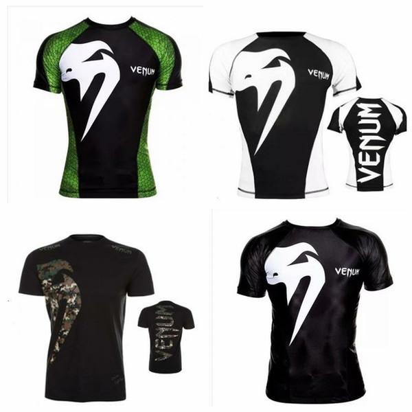 Erkekler MMA UFC M1 Tişört - Muay Thai boks JUJITSU Tişört ABSOLUTE RASHGUARD Venum Nightcrawler MMA kısa Kollu O-Boyun T-Shirt 055 Mücadele