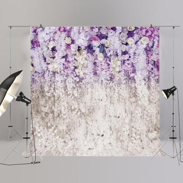 Fotografia edding Fiore viola floreale muro photobooth foto di sfondo XT 6708 (HUAYI) contesto di cerimonia nuziale Fiore Fotografia Sfondo Pu ...