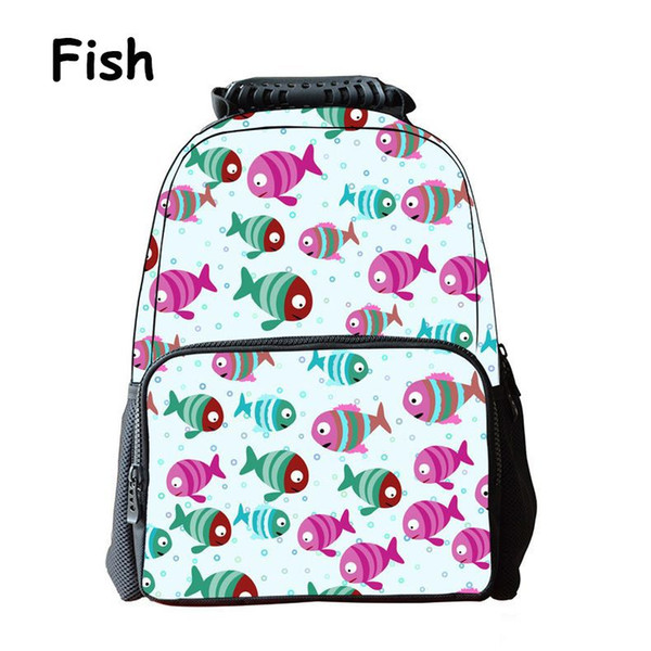 iMaySon Children Schoolbag 3D Animal Colorful Fish Face Kid Unisex Boy Felt Backpack Printing Shoulders Bags School Girls Teenager Retail