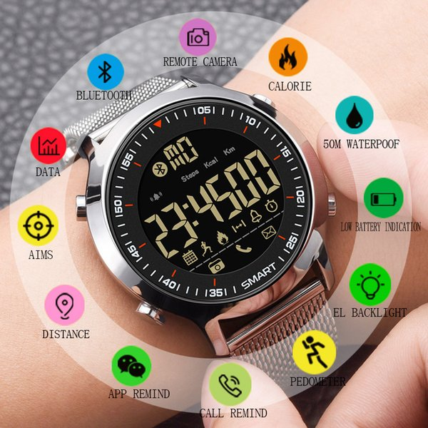 Synoke Smart Watch Waterproof Ip68 5atm Message Reminder Ultra-long Standby Xwatch Chronograph Sport Smartwatch Gift For Men Y19051703
