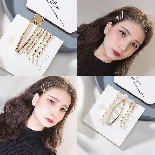 3-5pcs/Set Bridal Hairpins Headwear Faux Pearl Hair Clip Wedding Barrette Hair Pins Hairdressing Accessories Braiding Clips