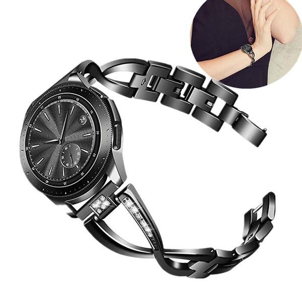 ASHEI 20mm Bling Bracelet En Acier Inoxydable Bracelet Sangle Pour Galaxy Watch Active 40mm Bande Galaxy Montre 42mm Bandes Femmes