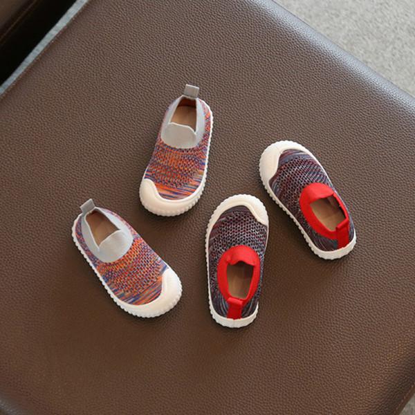 Printemps et Automnes Premier bébé Walkers doux Bébés garçons Botton First Walkers Mode Chaussures Filles Casual enfant en bas âge