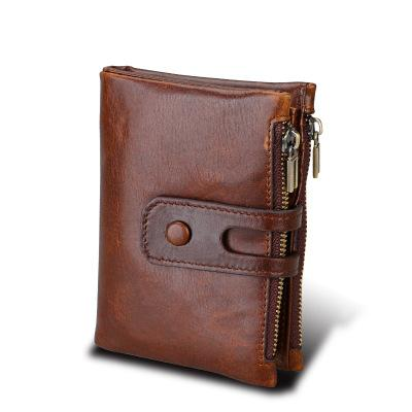 Männer Geldbörse Aus Echtem Rindsleder Männer Brieftasche Mode Münze Tasche Crazy Horse Echtes Leder RFID Business Brieftasche Geldbörse 3532