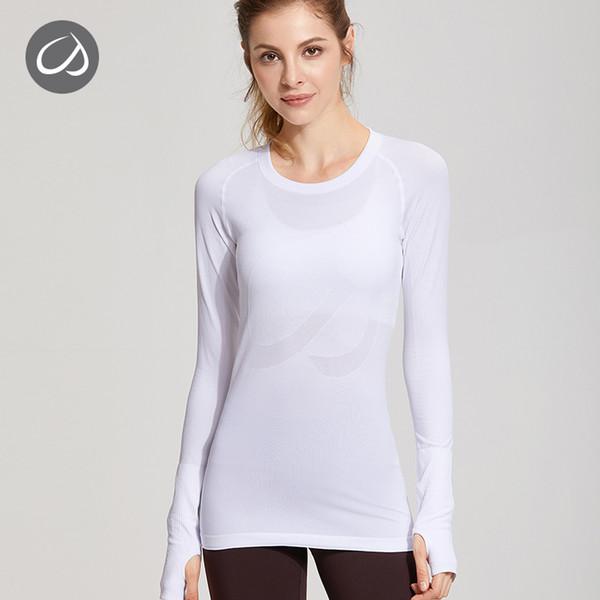 CRZ YOGA Women/'s Active Long Sleeve Sports Running Tee Top Seamless T-Shirt