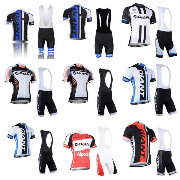 2019 Estilo Verão Homens Esportes Ciclismo Jersey Bicicleta de Manga Curta GIGANTE Ciclismo clothing set road bicicleta equipe jersey maillot ciclismo k122415