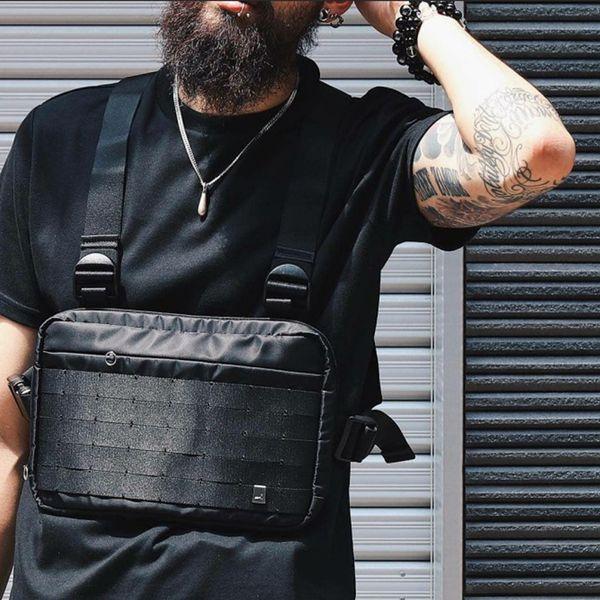 best selling Alyx Chest Rig Bag Streetwear Waist Bag Black Hip Hop Fanny Pack Men Adjustable Tactical Streetwear Chest Bags Kanye Waist Packs