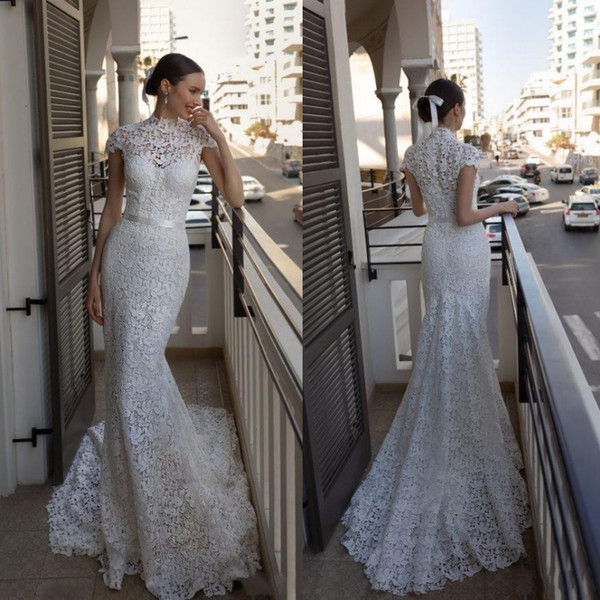 2020 Julie Vino Mermaid Wedding Dresses With Short Jacket
