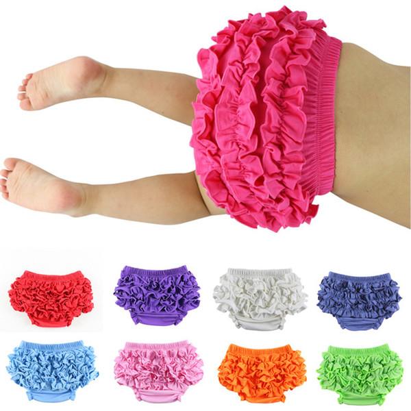 Baby Lace Shorts Newborn Infant ruffle PP Pants kids INS Panties 2019 Summer Bread shorts 28 colors briefs Kids Clothing B11