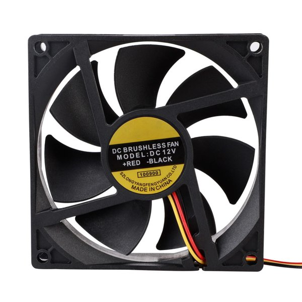 12V 3-контактный 9 см 90 мм компьютерный вентилятор портативный USB-кулер небольшой ПК охлаждение процессора компьютерные компоненты охлаждающие аксессуары черный низкий уровень шума