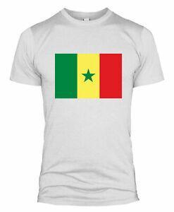 Senegal Flagge T Shirt Land Fußballnationalmannschaft Kit WM Männer Frauen L254
