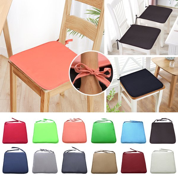 Chair Cushion Seat Pad Mat Non Slip Cushion Office Chair Kitchen Cushions  Pad Patio Seat Pads Solid Color 37x37cm Lumbar Support Car Cushion Lumbar  ...