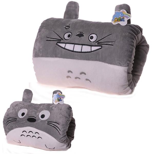 Nuevos juguetes 35 cm para niños de felpa mano calentador Totoro de dibujos animados monedero monedero bolsa al por mayor etiqueta de lavado estándar animales de peluche