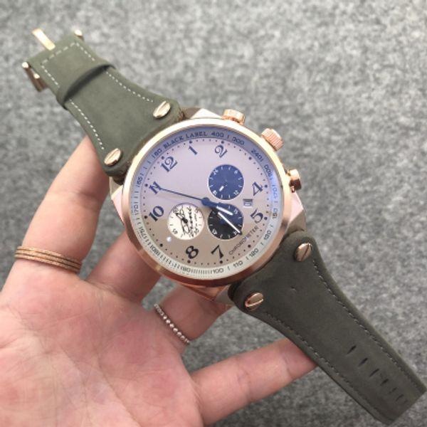 Erkekler lüks tasarımcı marka Silikon Spor Kuvars Bilek Saatler Aydınlık Askeri Relojios Relojes Su Geçirmez Chronograph Saat Kol