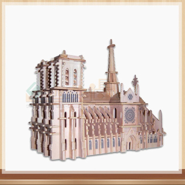 Notre Dame DE Paris 239 Piece Building Blocks Il mondo famoso edificio paesaggio Puzzle di carta per adulti attrazioni fai da te Jigsaw Puzzle Toys