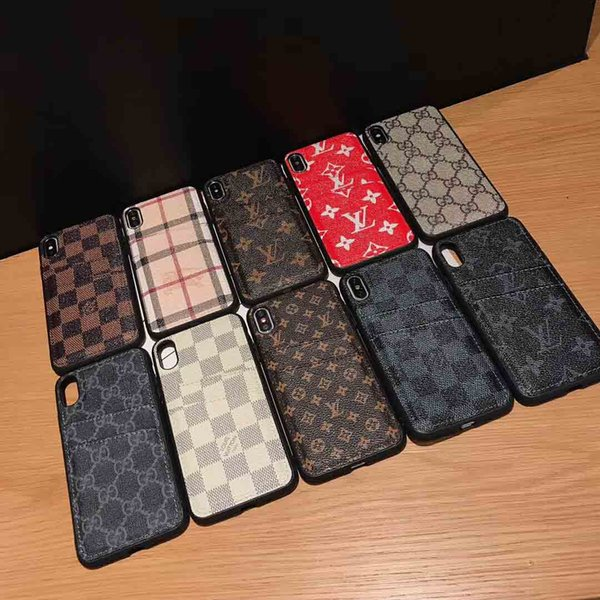 Модный дизайнер телефон чехол для IPhone X XR XS Max 7 7plus 8 8plus слот для карт кожаные чехлы