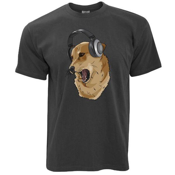 Cute Music T Shirt Shibe Dog Wearing Metal Rock Band Style Round Style tshirt Tees Custom Jersey t shirt hoodie hip hop t-shirt