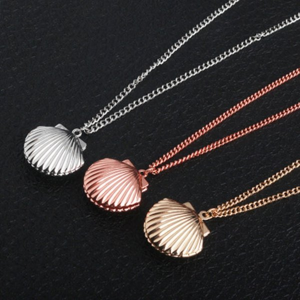 3 Color Shell Pendant Necklaces Mermaid Shell Necklace for Women Girl Souvenir Gift Creative Beach Jewelry Cheap Wholesale