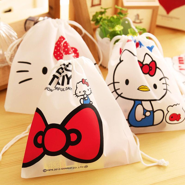 (1pcs/sell) Kawaii Drawstring Womens Travel Cosmetic Bags High Quality Makeup Bag Make Up Bag Neceser Luxury Brand Famous Brands