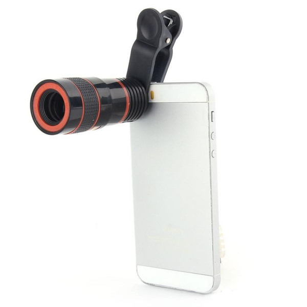 Mobile Phone Telescope 8X Zoom Lens Magnification Magnifier Optical Telephoto Camera Lens For iPhone Samsung Galaxy Retail Package KKA1132