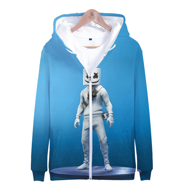 Marshmello Fans 3D Zipper Hoodies DJ Music Men/Women Spring Autumn Casual Confortable High Quality Outwear Hiphop 3D Zipper Tops