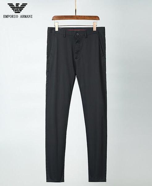 2019 Patrón de verano Pies unidos hombres Cintura alta Grado de hermeticidad Hombre Cool Time Motion Elástica Fuerza Pantalones AMN-988