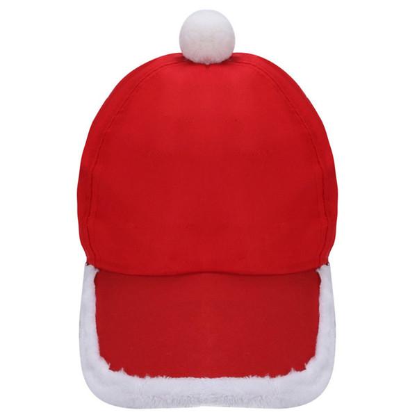 Nuovo Babbo Natale peluche cappello di Natale Sport Cap Xmas Accessori Cappelli Party Free Size Polyester Festive Atmosfera Decor 10Nov 29