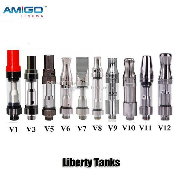 100% Original Itsuwa Amigo Liberdade V1 V5 V6 V7 V8 V9 V10 V11 V12 vidro tanque de cerâmica Bobina Grosso Oil CE3 Cartucho Atomizador