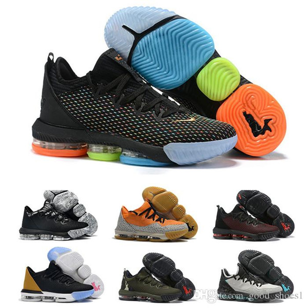 Più recenti Lebrons 16 basso 2019 scarpe da basket fresco di razza king equalit lightyear Lebron Sneaker basso 16s Sports Trainers size7-12