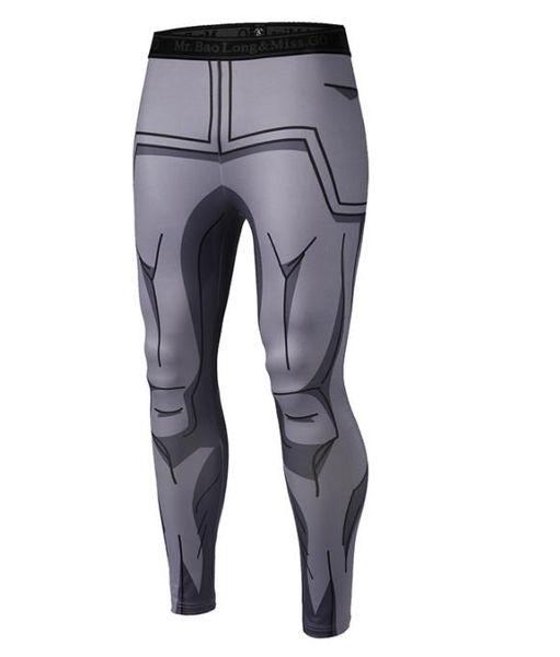 Nuovi pantaloni a compressione da uomo 3D Anime Dragon Ball Z Naruto Bodybuilding Skinny Quick-Drying Leggings Pants
