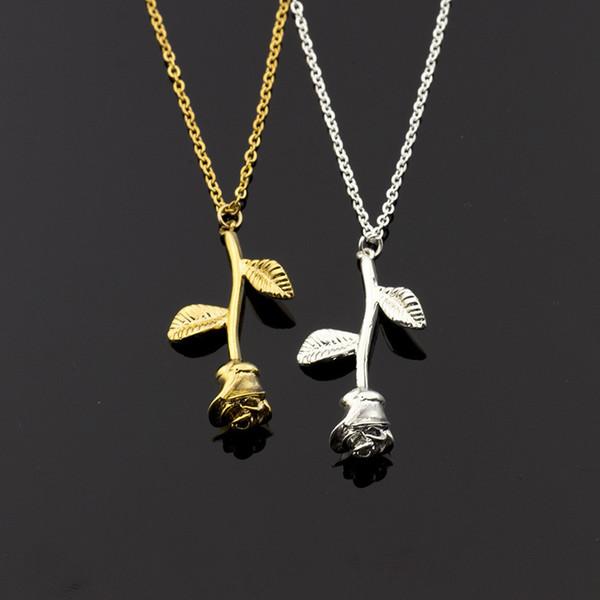 collier argent fleur