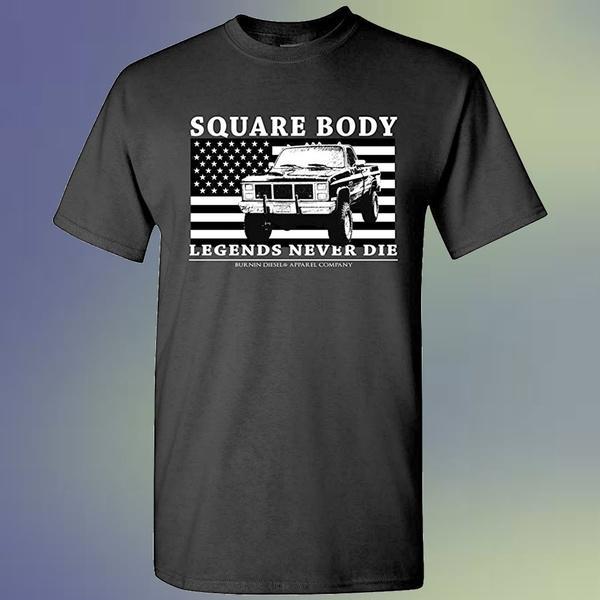 Burnin place Body Chevy GMC Legends Never Die T-shirt à manches courtes col rond T-shirt