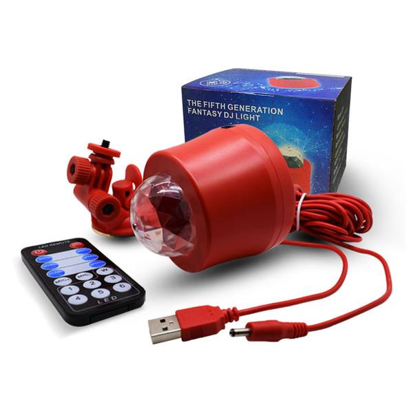 DJ organizza Lampade musica sana a distanza Plug RGB Mini Crytal Magic Ball Per KTV del partito della discoteca del USB LED Luce Interiore di controllo Bluetooth per auto
