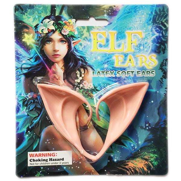 Cadılar bayramı Peri Kulaklar Lateks Elf Kulakları Yanlış Kulak Parti Sahne Yaratıcı Hediye Cadılar Bayramı Kostüm Aksesuarları Aydınlık Vampir Sahte Diş