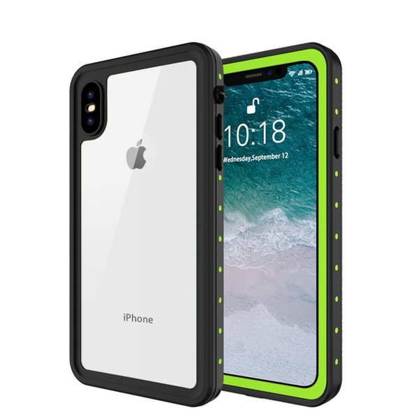 Fast Shipping with Retail Package For Apple iPhone XR Xs Max Waterproof Case Cover with Built-in Screen Protector