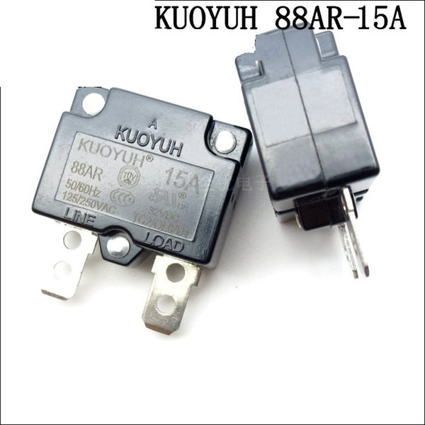 top popular Taiwan KUOYUH 88AR-15A Overcurrent Protector Overload Switch Automatic Reset 2021