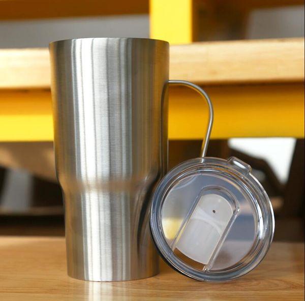 Cerveza de la manija del acero inoxidable de 20 oz taza aislada del coche vaso vacío taza de café al aire libre Vino Vaso Copa portátil MMA2918-B1