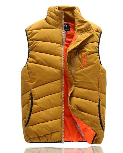 HEISSES freies senden die PoLo-Baumwollwollkragen der Männer, der unten mit Kapuze ärmellose Jacken plus Größe gesteppte Westen Weste-Oberbekleidung 858 der Männer PAUL