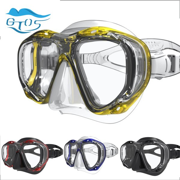 Gtos diving mask Myopia -2.0 to -5.0 reading lens +1.5 to 3.5 with plug-in lens for snorkeling equipment masks nearsighted