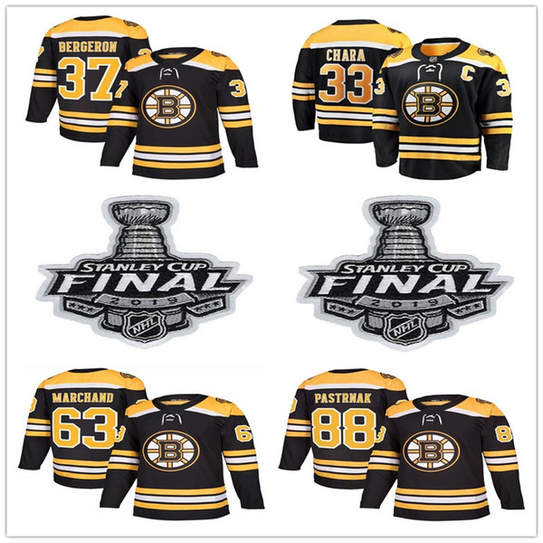 Final patch Boston Bruins Jerseys Black