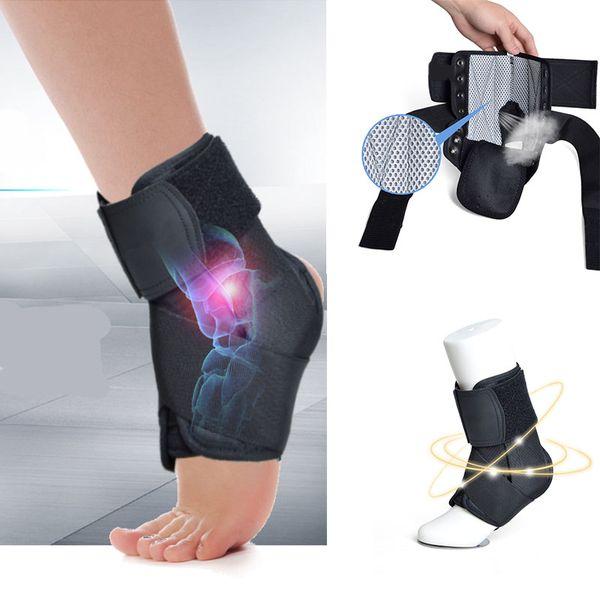 Alta Elastic Ankle Brace Suporte Esporte de Fitness Respirável Ajustável Estabilizador de Pé Bandage Meias Protetoras Órtese