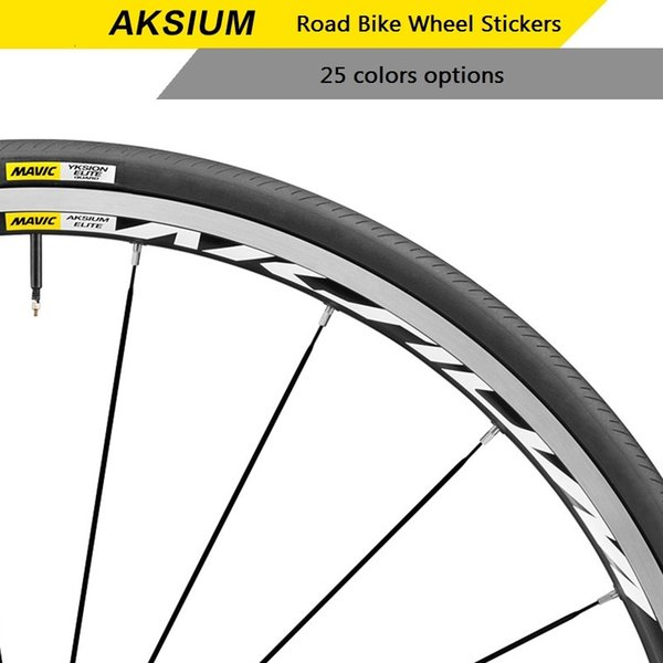 Two Wheels Set Stickers for Mavic AKSIUM Road Bike Carbon Wheel Race Cycling Bicycle Rim Decals Water Proof Sun Proof #107418