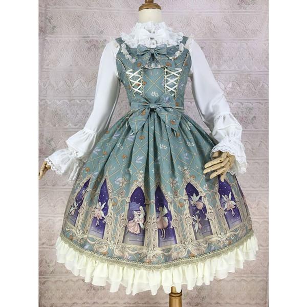 Эльф мечты ~ сладкий печать АО Лолита платье шифон купить yiliya для предзаказа