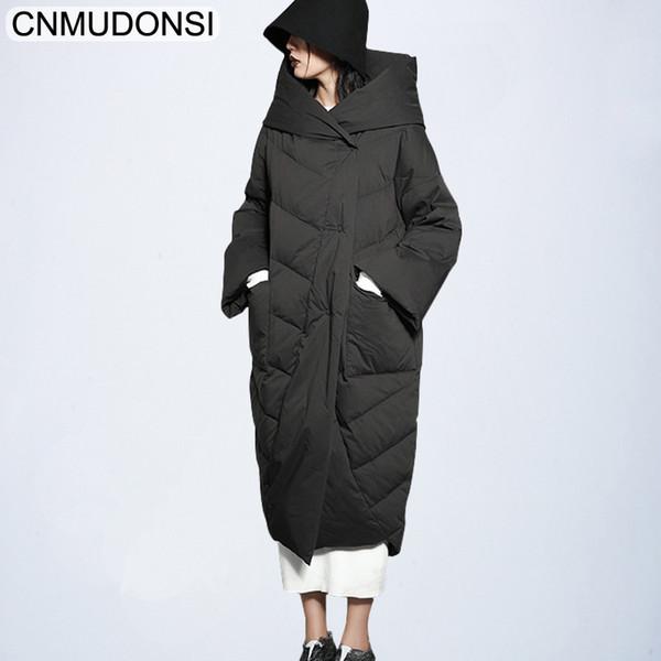 Winter Parka Women Elegant Coat Female Winter Jacket Plus Size Hooded Ukraine Clothes Brand Warm Long Large Down Cotton Parkas LMX190822