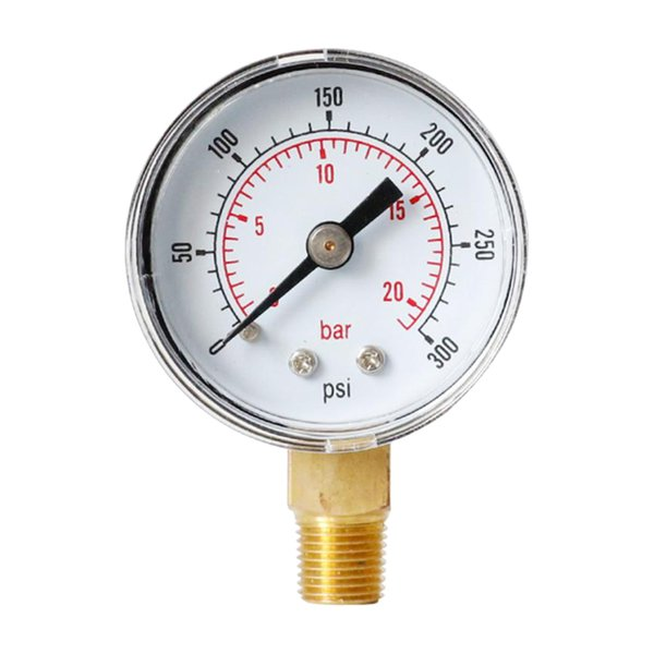 best selling Pressure Gauge for Air Tank Accessory, 0-20 bar, 0-300 Psi, Dial Display, 1 8 inch BSPT Bottom Mount