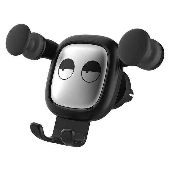 New cartoon angry bear and calm bear car mobile phone bracket air outlet navigator gravity sensor lazy gift