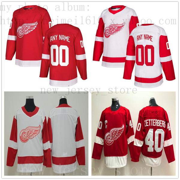 Jersey de hockey Detroit Red Wings personalizado Nuevo 42 Martin Frk Luke Glendening Mike Green Darren Helm Jimmy Howard Filip Hronek Jonathan Ericsson
