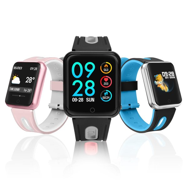 IP68 Waterproof Smart Band p68 Real-Time Heart Rate Monitor Wristband Multi-Sport Model Message Reminder pk iwo watch For women