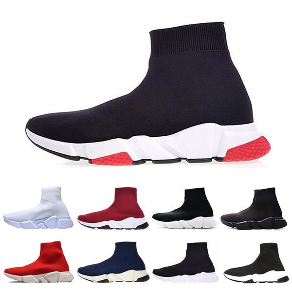 Balenciaga sock speed trainer Homens baratos Mulheres Trainer Velocidade de Luxo sapatos casuais Triplo preto branco vermelho Moda Plana Meias Botas Sapatilhas Formadores Sapatos