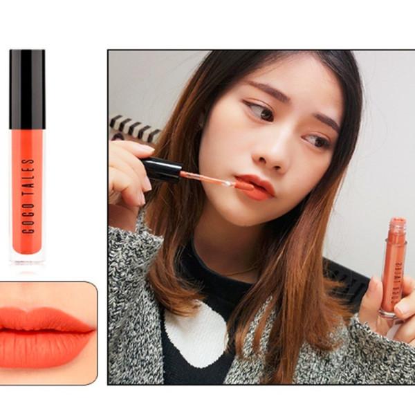GOGO TALES gasa estrella brillo de labios glaseado taza color de labios sucio naranja color calabaza